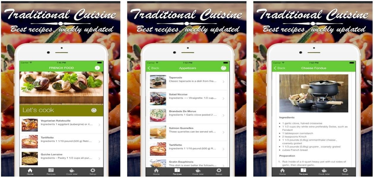 Frence Cuisine Cookbook App