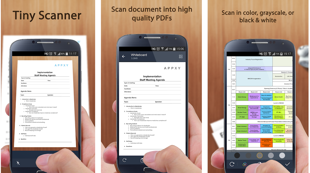 Metro blog Tiny Scanner App