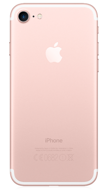 Apple iPhone 7 128GB Rose Gold Back