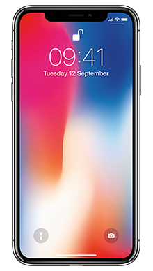 Apple iPhone X 64GB Space Grey Front