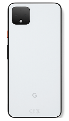 Google Pixel 4XL 64GB Clearly White Back