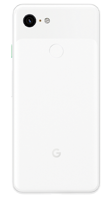 Google Pixel 3 64GB Clearly White Back