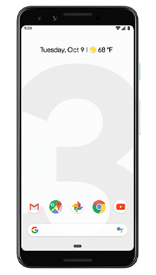 Google Pixel 3 64GB Clearly White Front