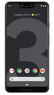 Google Pixel 3 XL 64GB Just Black Front