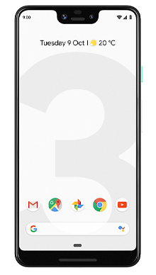 Google Pixel 3 XL 64GB Clearly White Front