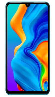 Huawei P30 Lite Peacock Blue Front