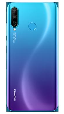 Huawei P30 Lite Peacock Blue Back