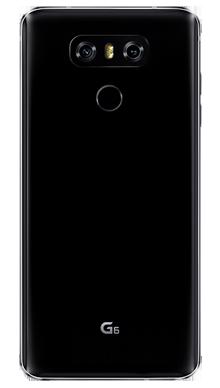 LG Q6 Black Back