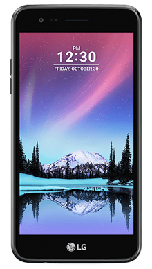 LG K4 2017 Black Refurb Front