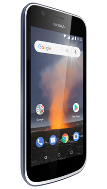 Nokia 1 Blue Side