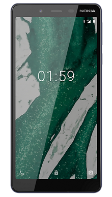 Nokia 1 Plus Black Front
