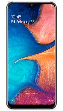Samsung Galaxy A20e  Black Front