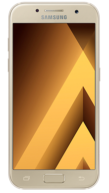 Samsung Galaxy A3 2017 Gold Front