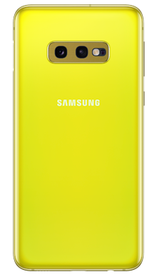 Samsung Galaxy S10e 128GB Canary Yellow Back