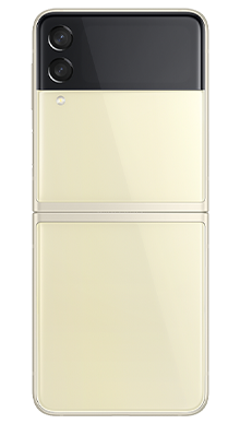 Samsung Galaxy Z Flip 3 5G 128GB Cream Back