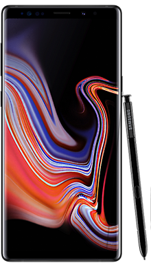 Samsung Galaxy Note 9 128GB Midnight Black Front