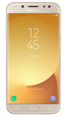 Samsung Galaxy J5 2017 Gold Front