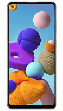 Samsung Galaxy A21s 32GB White Front