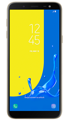 Samsung Galaxy J6 Gold Front