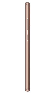 Samsung Galaxy Note 20 256GB Mystic Bronze Side