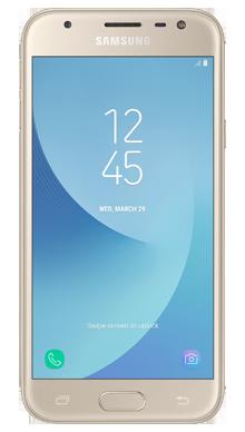 Samsung Galaxy J3 2017 Gold Front